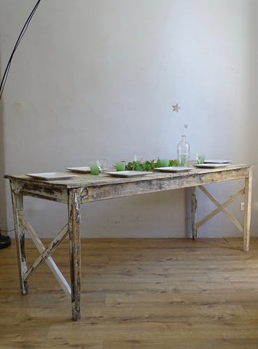 Old florist table