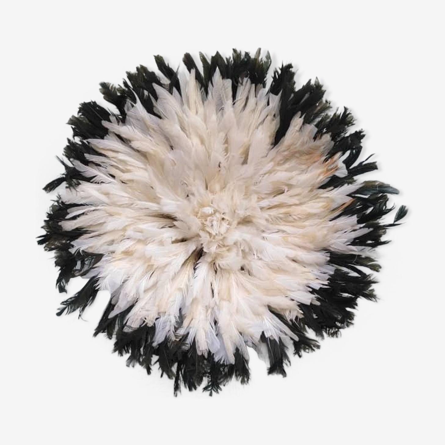Juju hat blanc contour noir de 50 cm