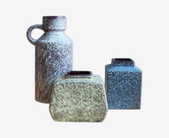Set Of Vases From Afina Rijnsburg 60s Ceramics Porcelain And