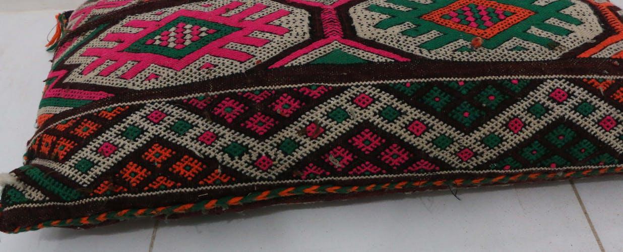 "Vintage Moroccan Pillow, 34 x 58 cm / 1'1"" x 1'11"" feet"