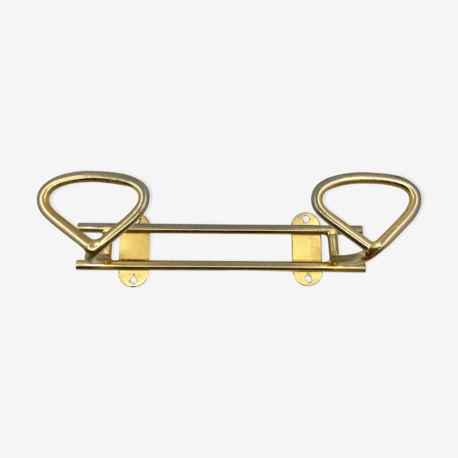 Coatrack retro gold steel