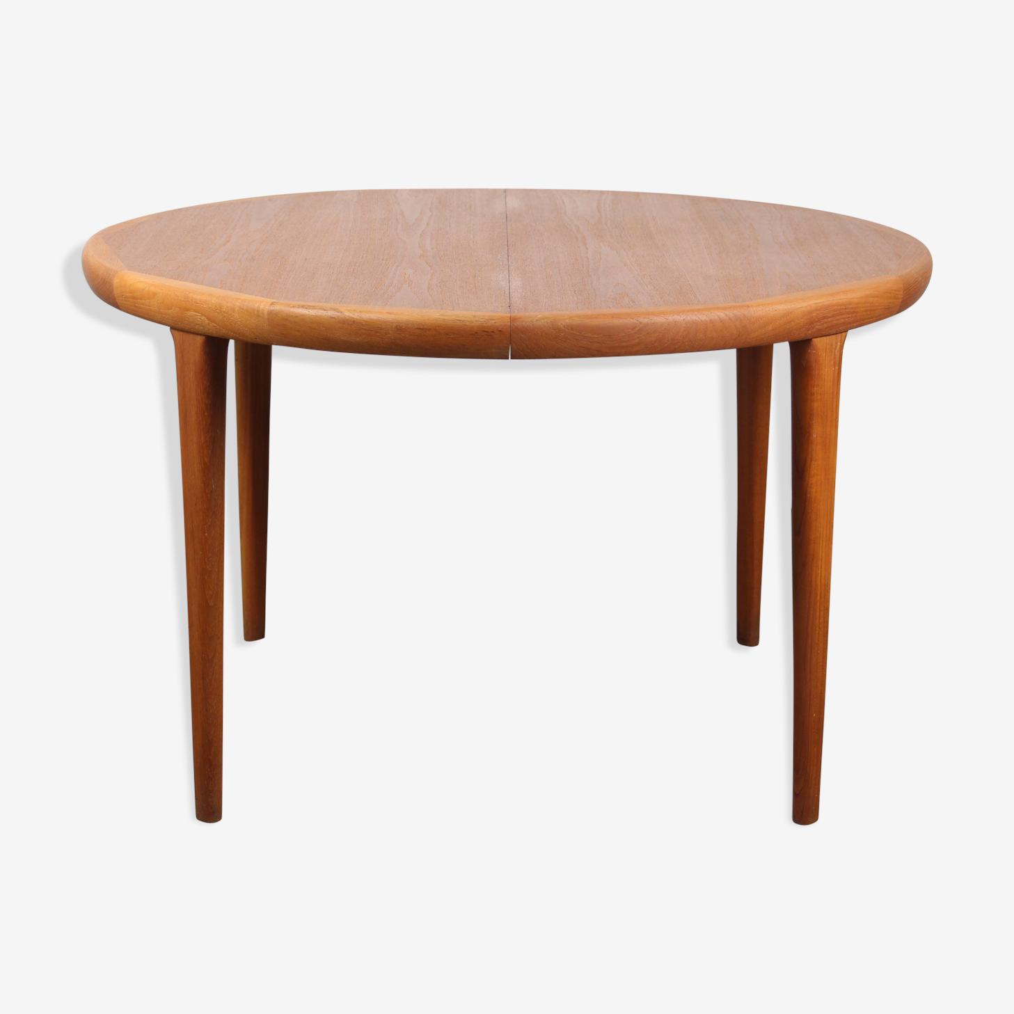 Table round Scandinavian teak