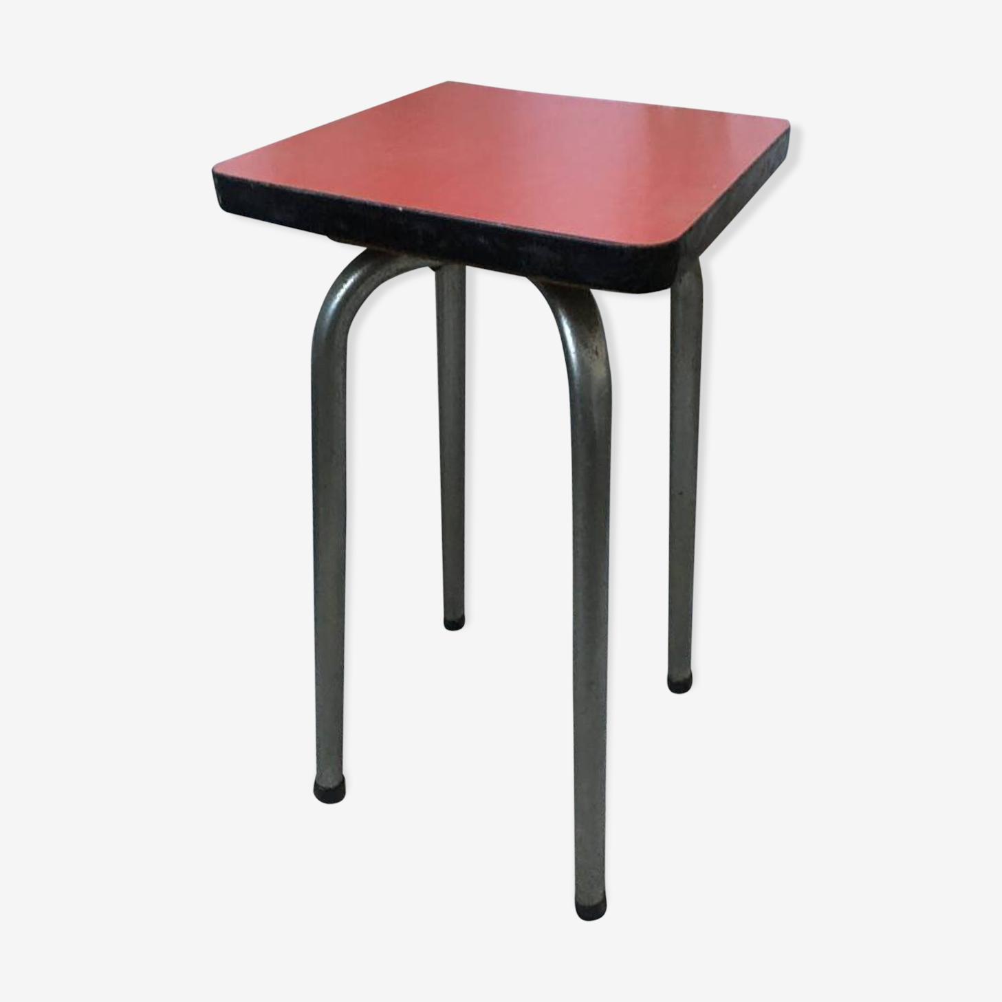 Tabouret formica rouge années 60