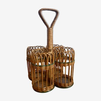 Rattan bottle holder
