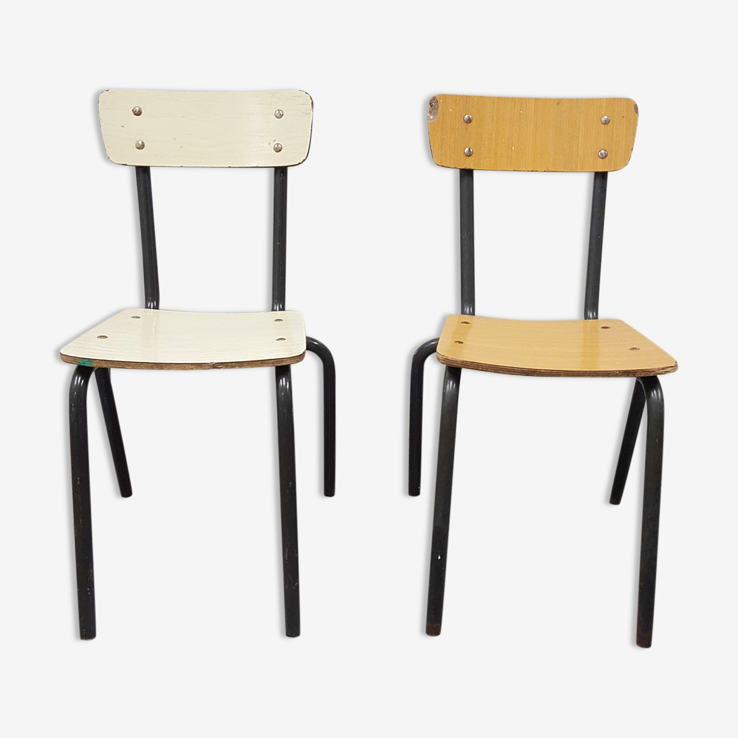 Two formica chairs