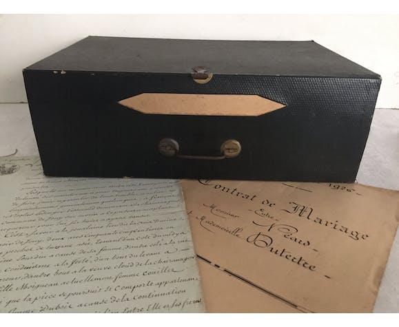 Boite de notaire archive rangement de bureau
