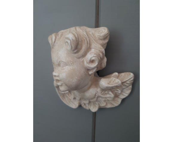 Buste tête d'ange plâtre