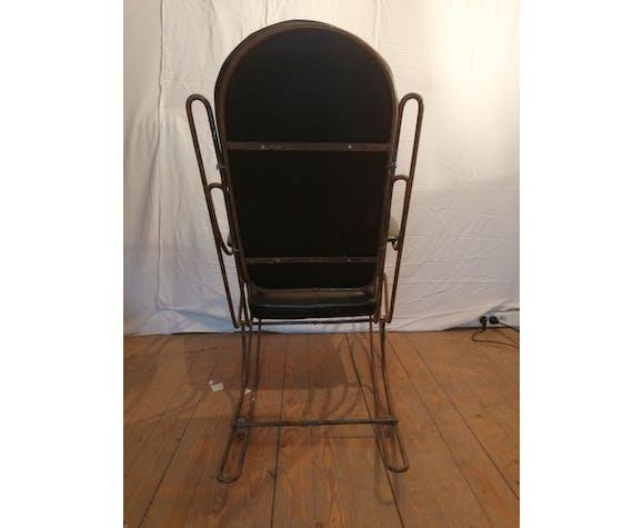 Rocking chair vintage métal