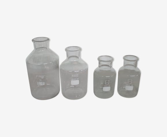 Lot of 4 lab bottles