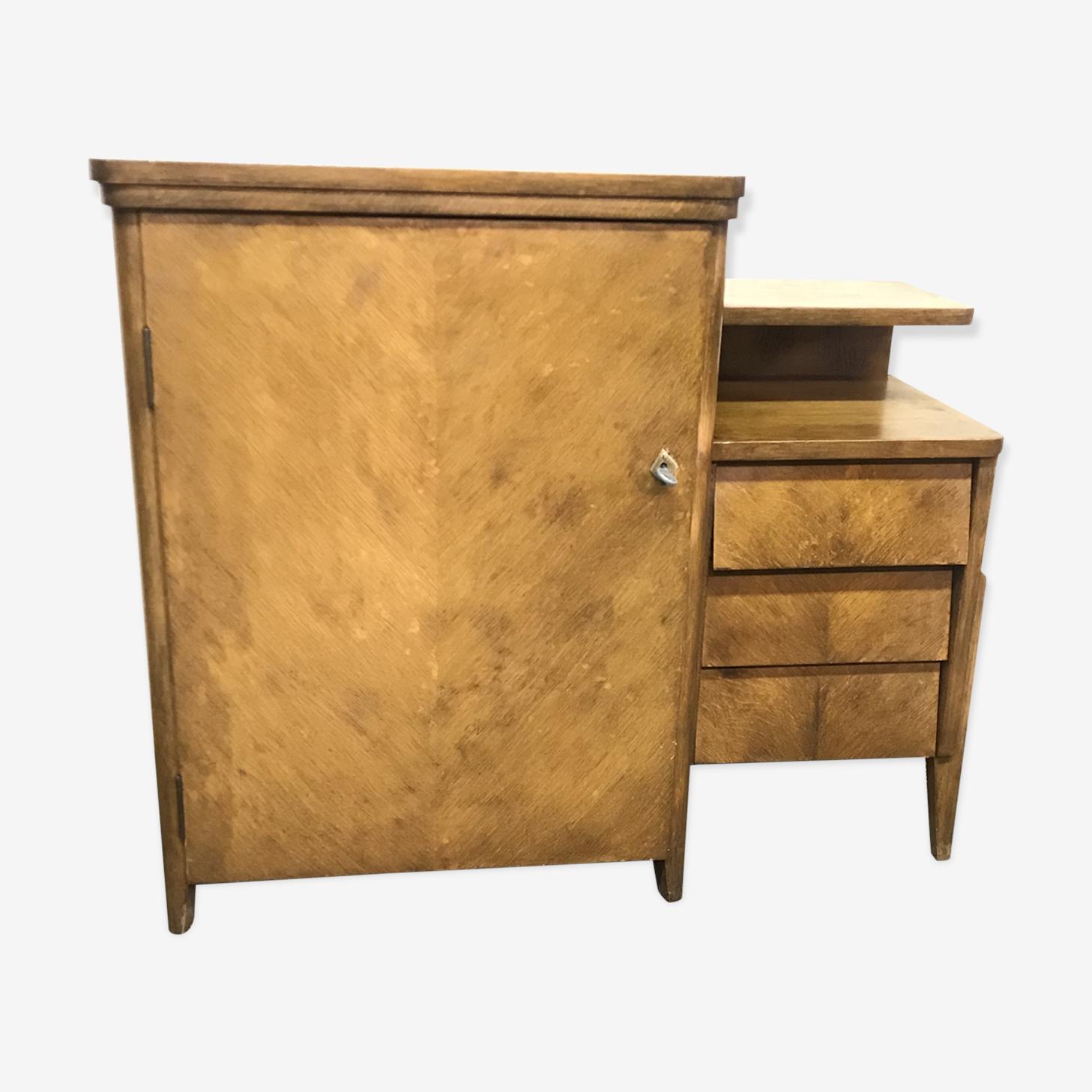 Commode aux tiroirs inclinés vintage