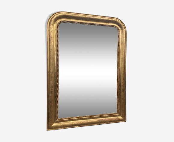 Miroir Louis-Philippe doré à la feuille d'or, 101 x 74 cm