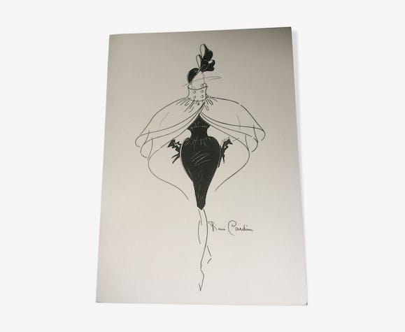Illustration de mode de  presse Pierre Cardin fin des années 80
