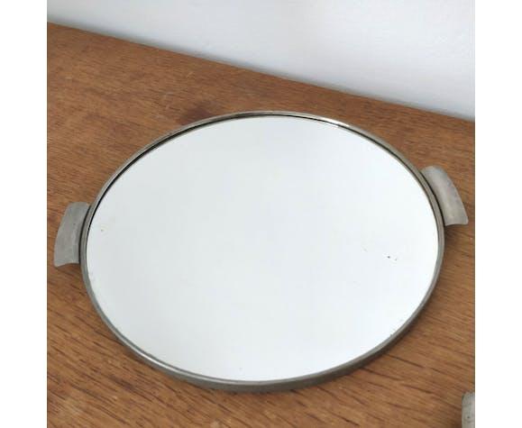 Two vintage mirror trays 50s