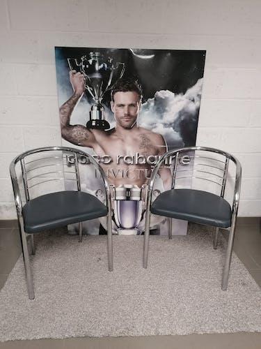 Paire de chaises design italien