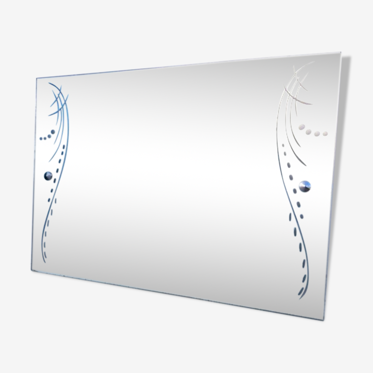 Miroir gravé 42x60 cm