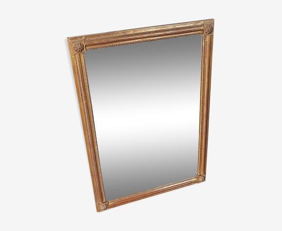 Miroir ancien cadre bois doré 81x59cm - verre et cristal - doré ...