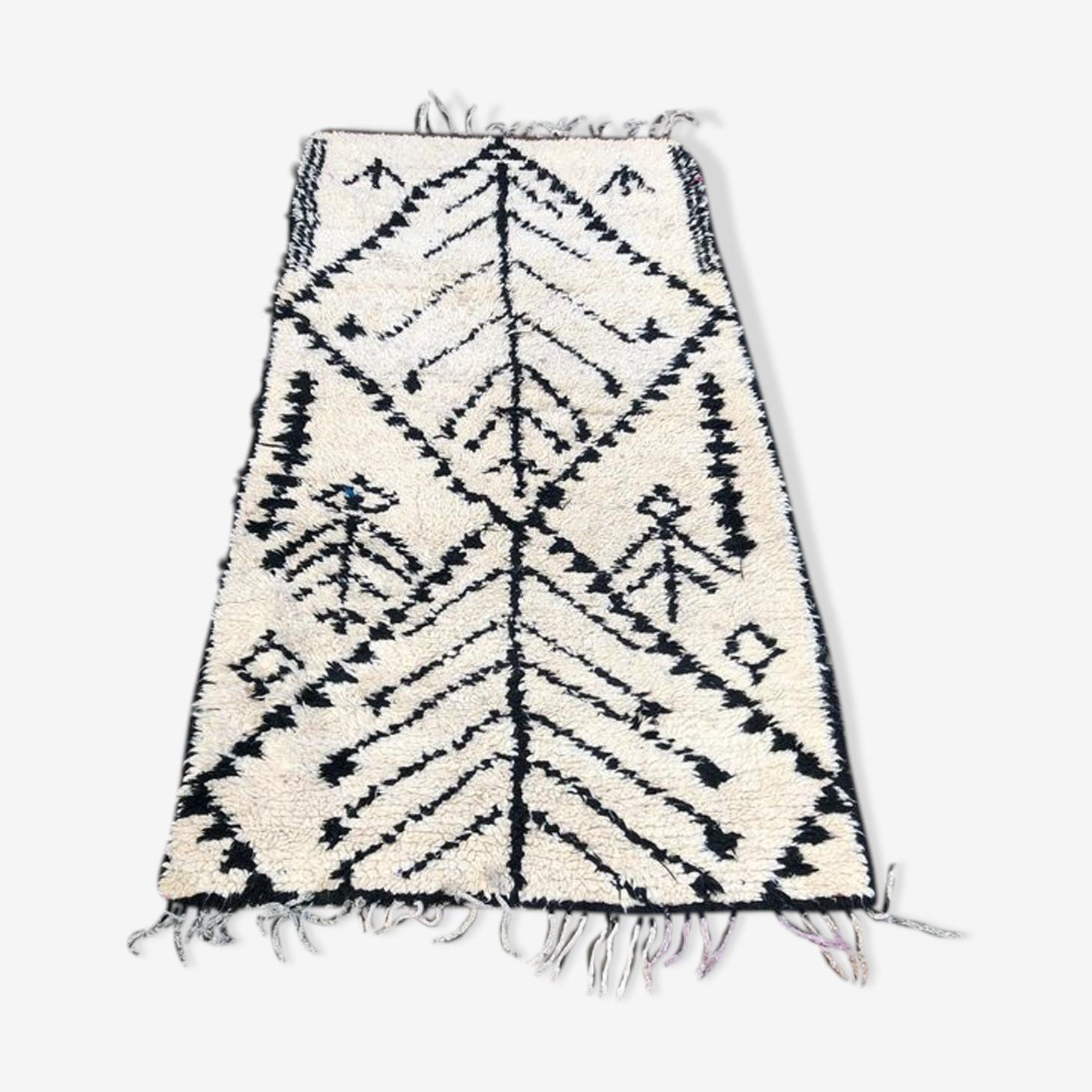 Tapis beni ouarain, tapis marocain 230x115 cm