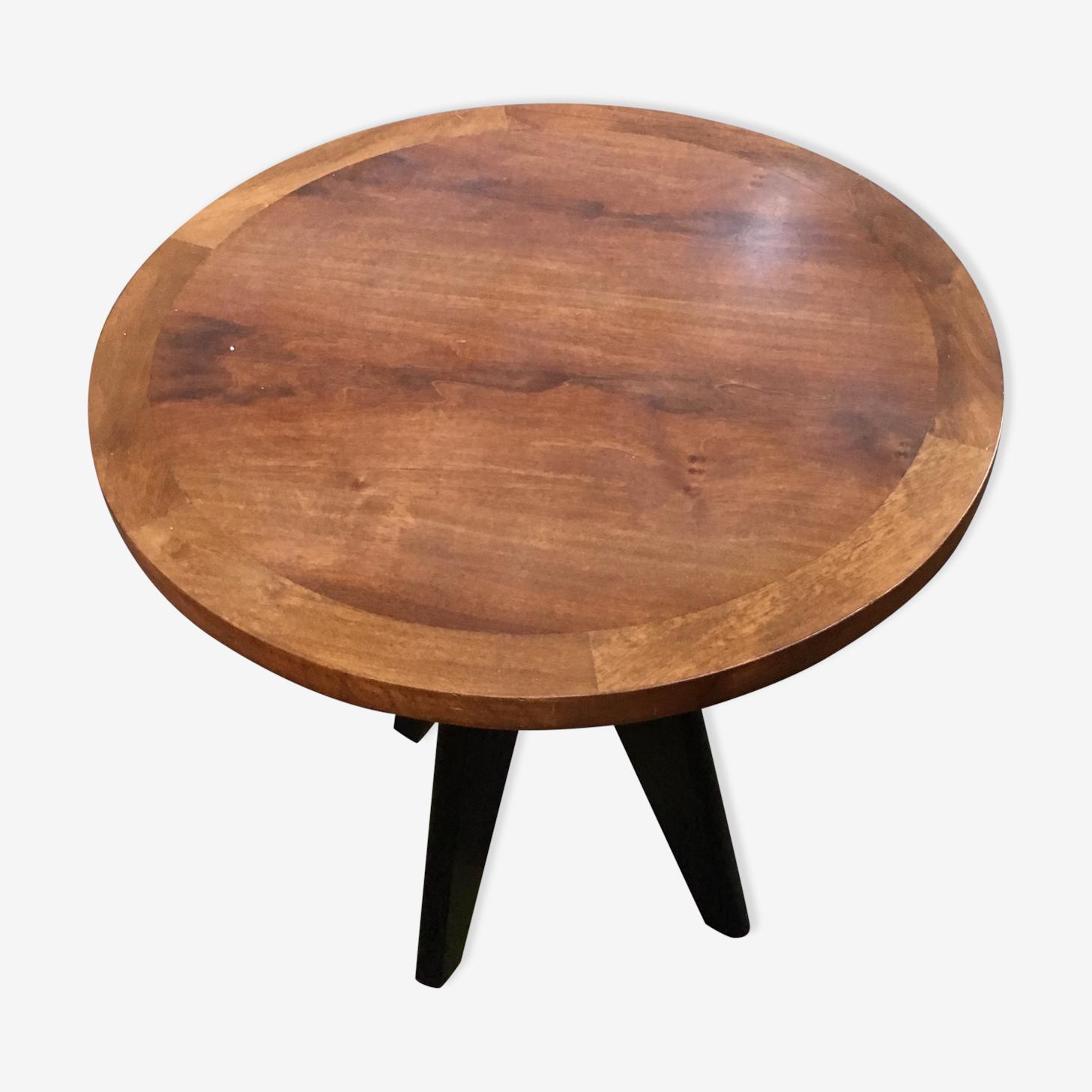 Round table wood, base quadripode