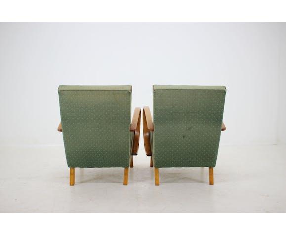 Lot de 2 fauteuils de Jindrich Halabala, 1950
