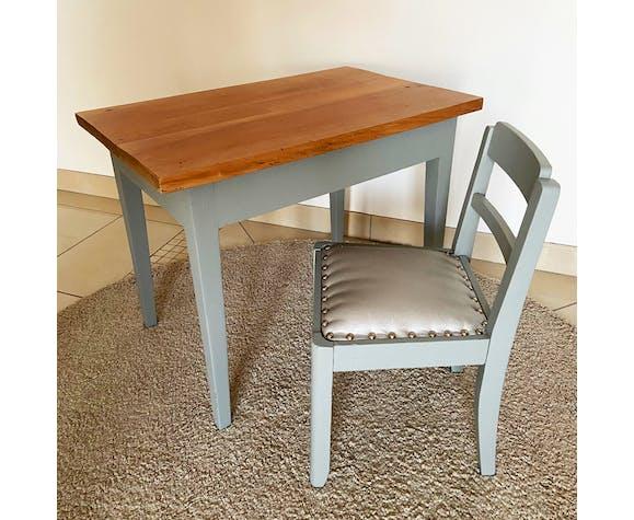 Ensemble bureau en bois avec sa chaise