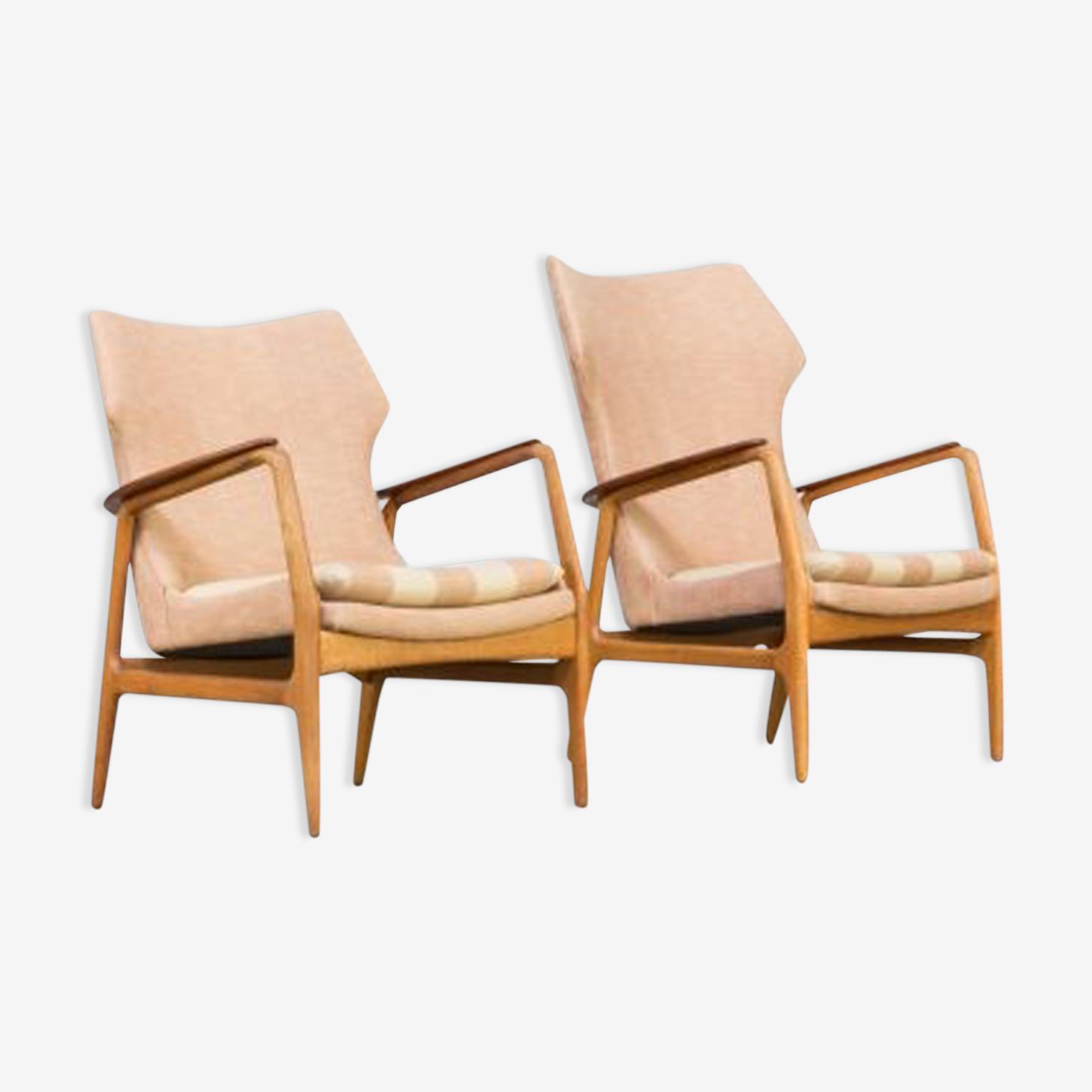 Paire de fauteuils Axel Bender Madsen des années 60 pour ensemble Bovenkamp