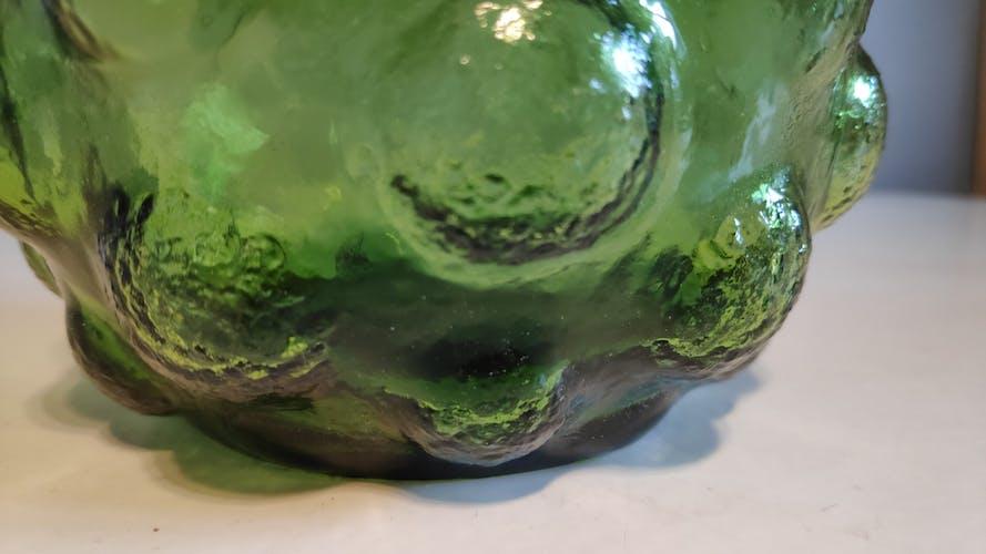 Carafe italienne verte gouttes d'eau avec bouchon flamme