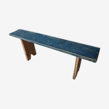 Brocante sidetable, blue bench