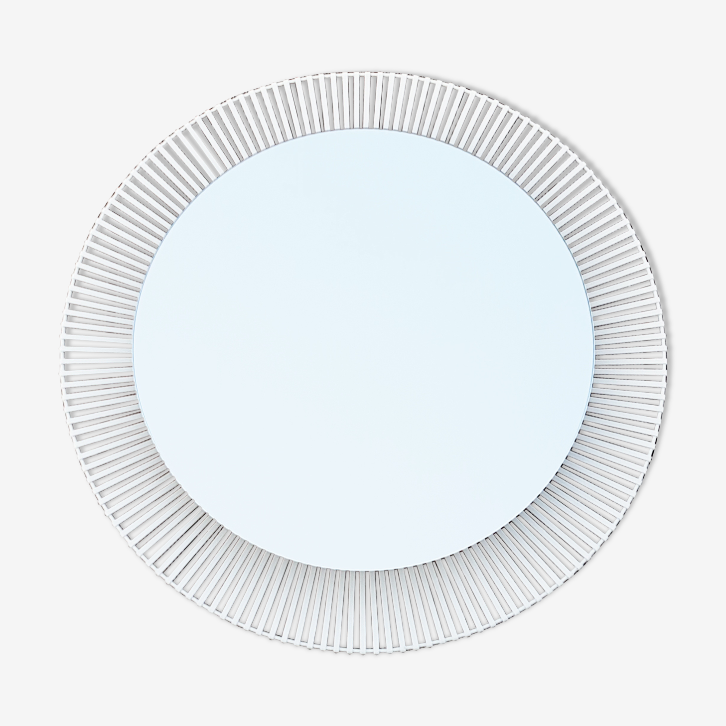 Miroir rétro-éclairé de Zeit-Form 1960 vintage 70x70cm