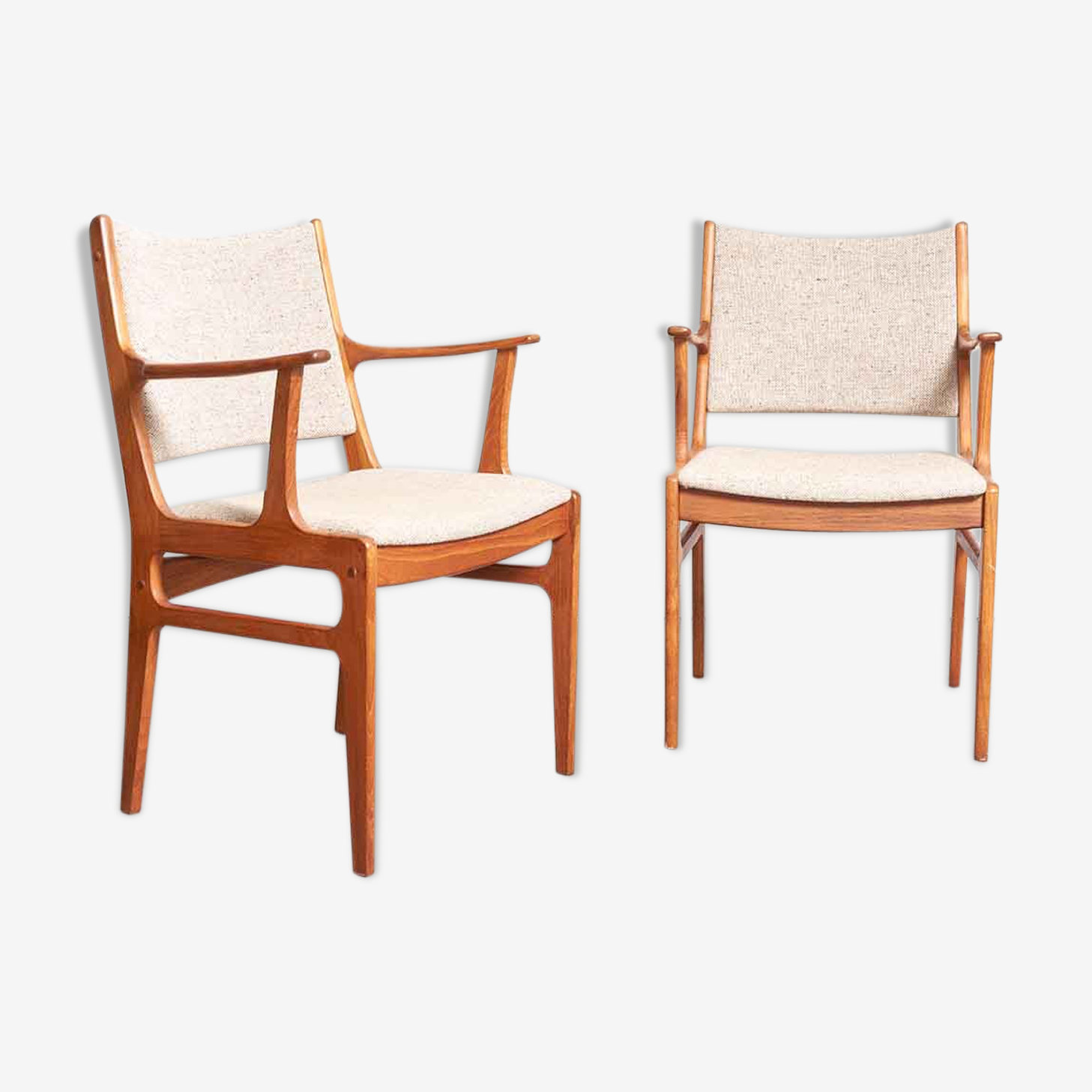 Pair of armchairs 1960 scandinavian style