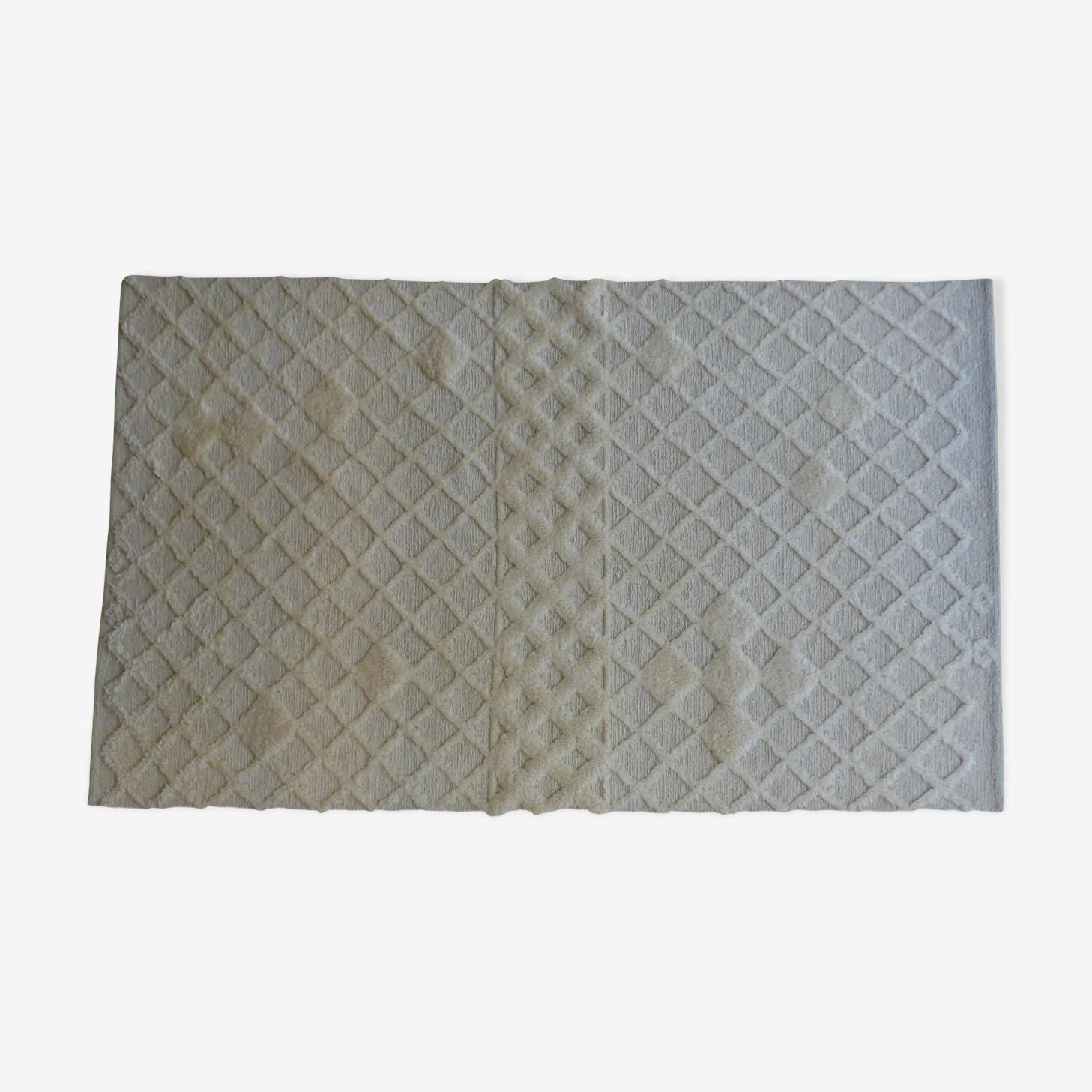 Tapis en laine tissé et noué 253 x 153 cm