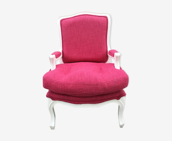 """A queen"" style armchair child raspberry rose"