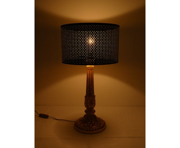 Lampe en bois doré de style Napoléon III