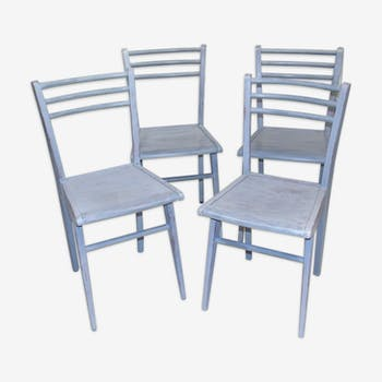 Lot of 4 Chair 1950 luterma painted