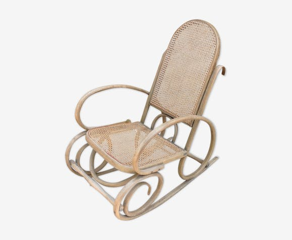 Rocking-chair en cannage
