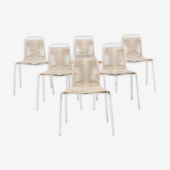 """Set of six chairs Poul Kjorholm: """"PK-1"""""""