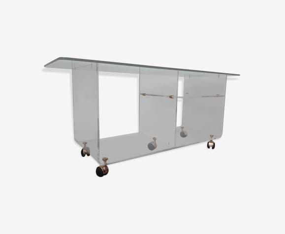 Lange Side Table.Plexi Side Table By David Lange 80s Plexiglass