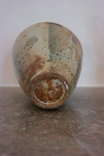 Ensemble de deux vases en grès émaillé, signé Franco Agnese