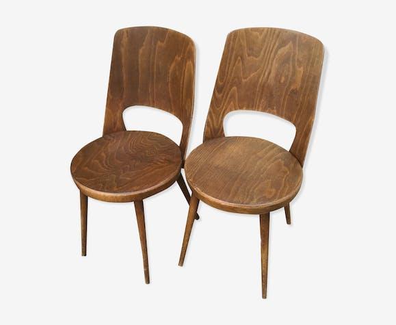 Paire de chaises Baumann Mondor