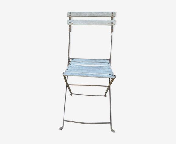 Vintage Txzl4ib Chaise Public Pliante Jardin Vert Fer SMUzpV