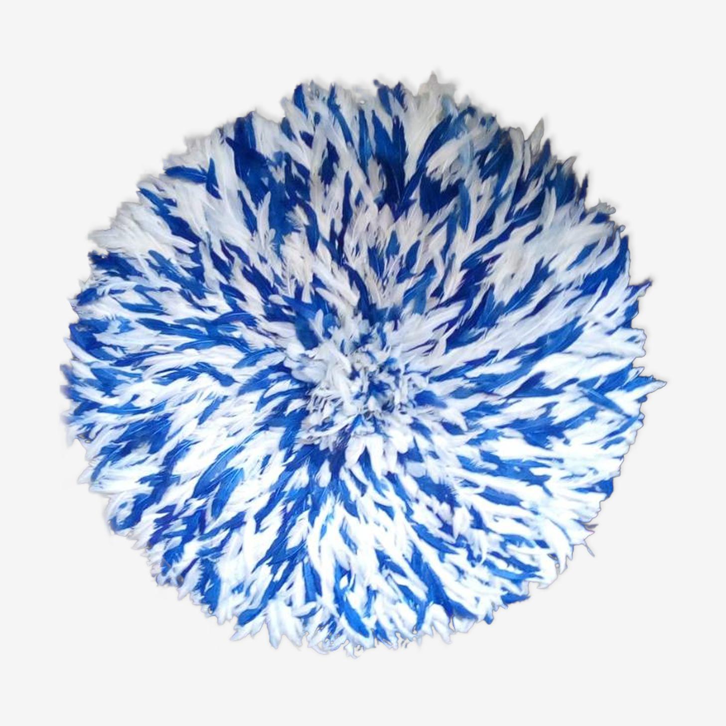 Juju hat moucheté blanc bleu de 80 cm