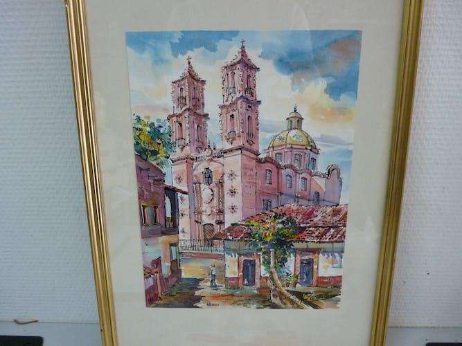Peinture ancienne cathédrale