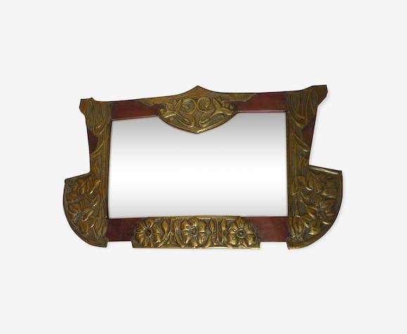 miroir art nouveau suspendre bois mat riau dor. Black Bedroom Furniture Sets. Home Design Ideas