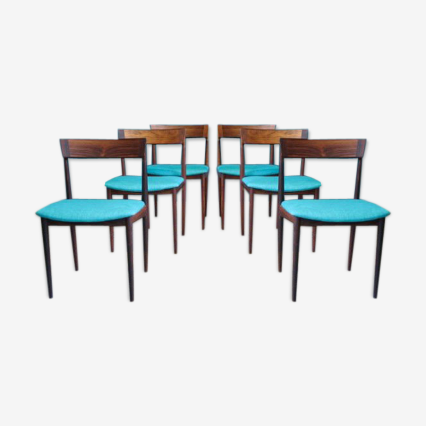 Lot de 6 chaises de salon, modèle 39, mid-century par Henry Rosengren Hansen pour Brande Mobelfabrik