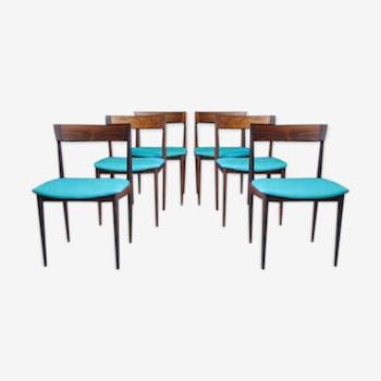 Lot of 6 lounge chairs, model 39, mid-century by Henry Rosengren Hansen for Brande Møbelfabrik