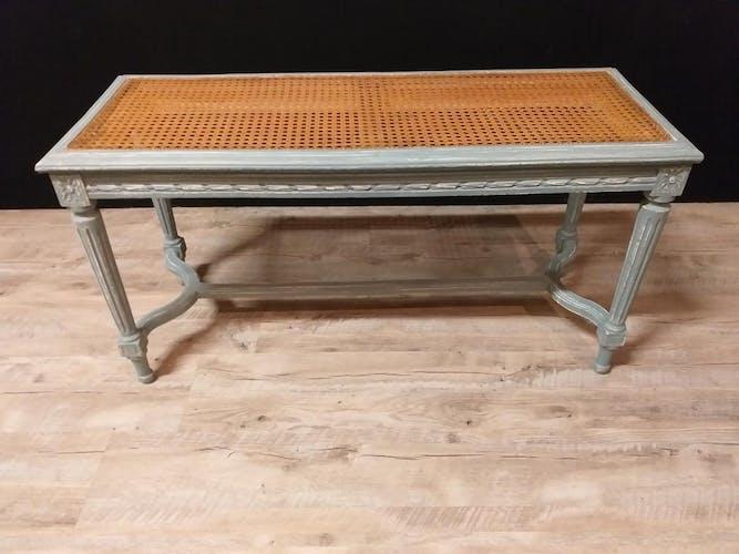 Banquette de piano à deux places en bois laqué