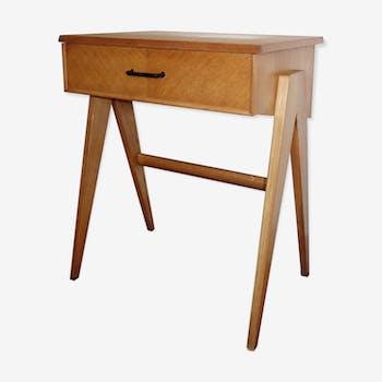 Side table 1950s oak