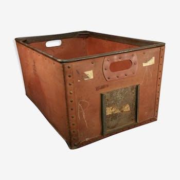 Coffre malle caisse de rangement vintage d 39 occasion - Malle industrielle ...
