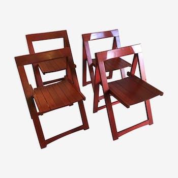 Set de 4 chaises pliantes par Aldo Jacober pour Alberto Bazzani – années 60