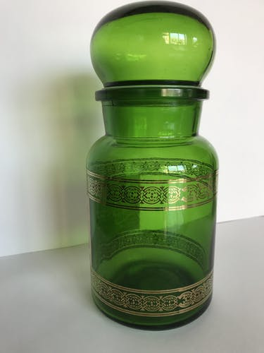 Bocal vert bouteille