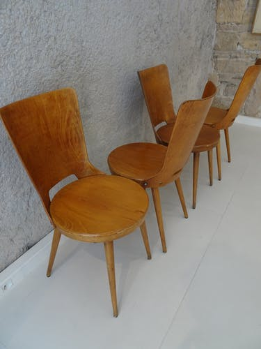 Série de 4 chaises Dove par Baumann